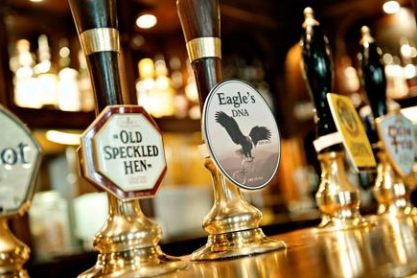 "The Eagle serves an ale called ""Eagle's DNA"""